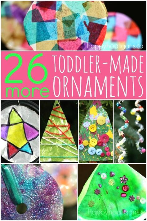 christmas ornaments to make with oreschool boy 26 more easy ornaments for happy hooligans