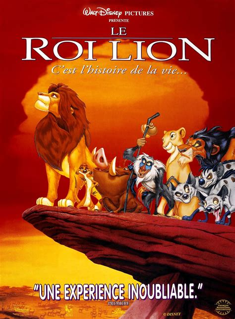 film roi lion 1 le roi lion long m 233 trage d animation 1994 senscritique