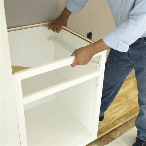 How To Install Base Kitchen Cabinets How To Install Kitchen Base Cabinets