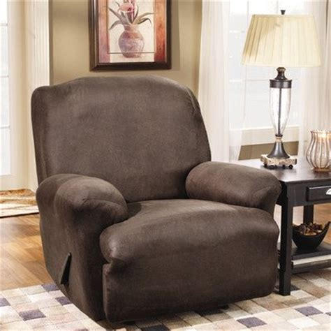 leather chair stretch sofa sure fit stretch leather recliner slipcover brown
