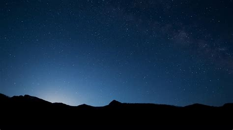mg night sky wide mountain star shining nature papersco
