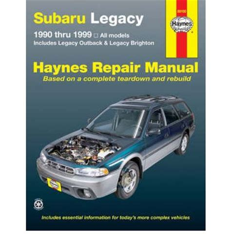 subaru legacy automotive repair manual sagin workshop car manuals repair books information
