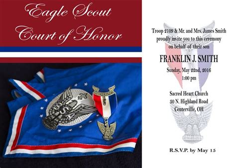 Eagle Scout Court Of Honor Here Is My Latest Free Invitation Go To My Website Www Eagle Scout Powerpoint Template