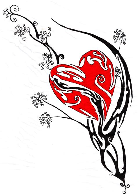coloured heart tattoo designs lower back tribal tattoos for tribal flash
