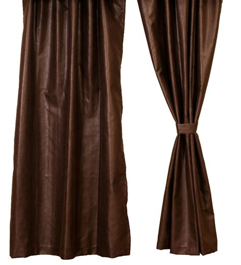 leather curtains drapes brownstone faux leather drapery panel 54 x 84