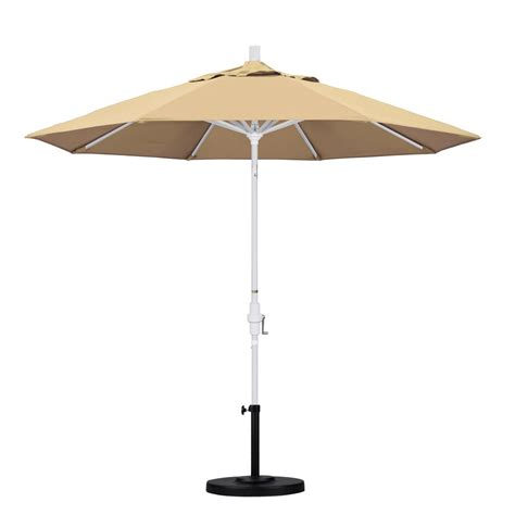 9 Patio Umbrella California Umbrella 9 Ft Aluminum Collar Tilt Patio Umbrella In Beige Pacifica Gscu908170 Sa22
