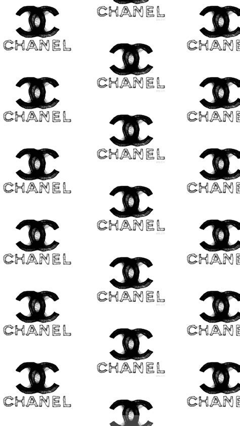Distressed Chanel Logo Whatsapp Wallpaper   Fashion