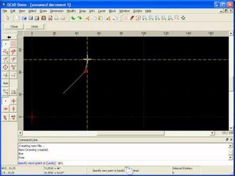 tutorial qcad youtube tutorial qcad 12 de 32 coordenada relativa retangular