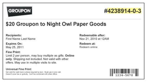 How To Redeem Groupon Gift Card - how do i redeem my groupon ordering from night owl paper goods self service