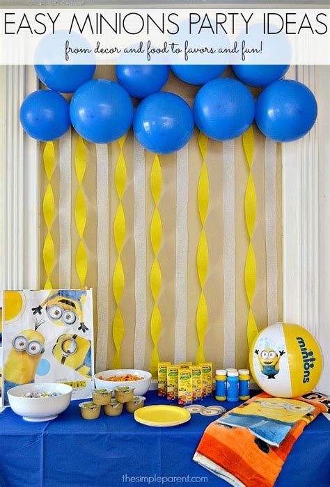 simple net for party decoration easy minions ideas the simple parent minion minion birthday and