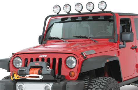 Jeep Jk Light Bar Olympic 4x4 Products Folding Maxi Light Bar For 07 17 Jeep