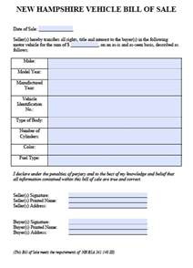 new car bill of sale free new hshire car vehicle bill of sale form pdf