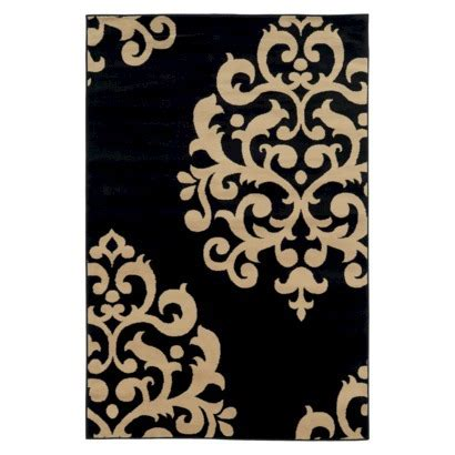 Damask Area Rug Black And White by Black Damask Rug Roselawnlutheran