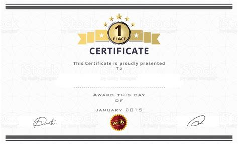 Doc.#1024618: First Place Award Template Certificate Maker