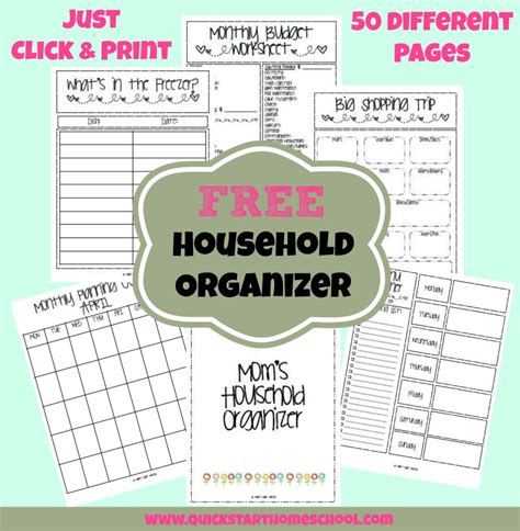 free printable household notebook planner pages household binder plus free download dr marie claire
