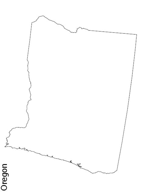 map of oregon outline view the blank state outline maps theusaonline