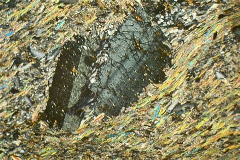 chloritoid thin section chloritoid mica schist scotland thin section microscope