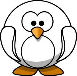 Penguin Clipart Outline by Penguin Outline Clip At Clker Vector Clip Royalty Free Domain