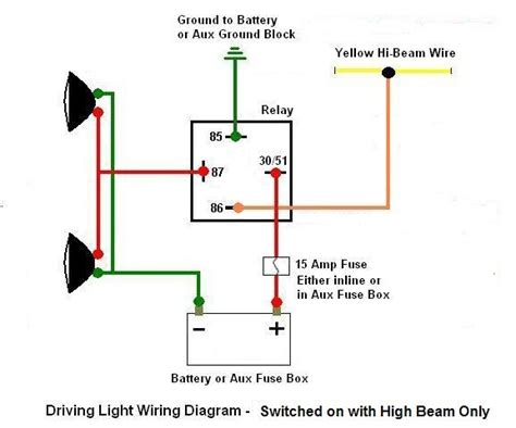 driving light relay diagram how to wire up driving lights diagram wiring diagram and