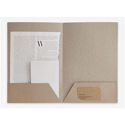 How To Make A Handmade Folder - office a4 document presentation folder handmade cardboard
