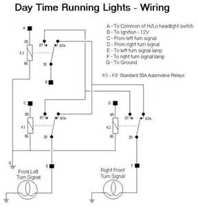 pin wiring diagram turnsignals into running lights on