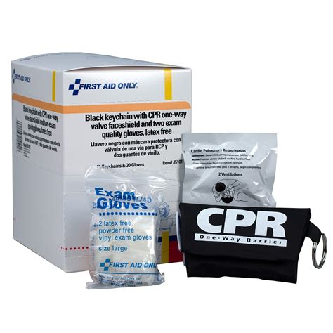Masker Per Box cpr mask with gloves keychain 15 per box