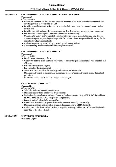 Surgery Assistant Resume by Surgery Assistant Resume Sles Velvet