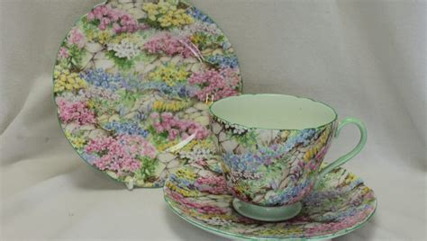 shelley rock garden cup saucer and plate pattern 13454