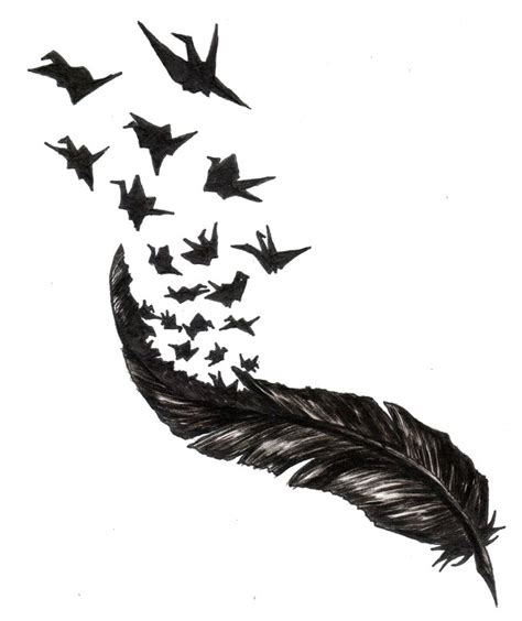 feather with birds flying out tattoo 81 best book ideas images on literary