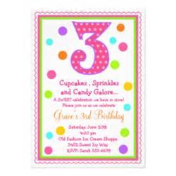 3rd birthday invitations 1 000 3rd birthday invites announcements