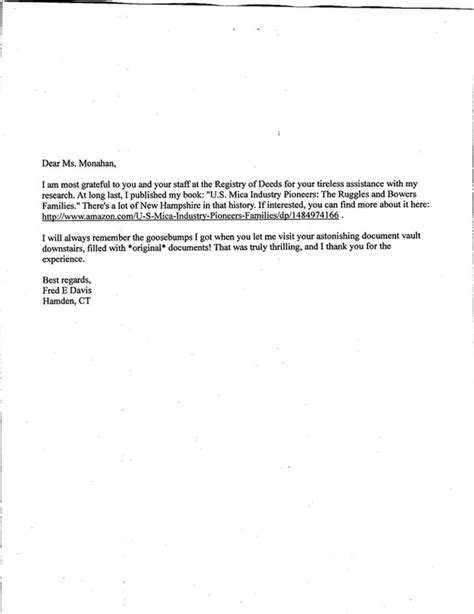 thank you letter new thank you letter from fred davis author of u s mica