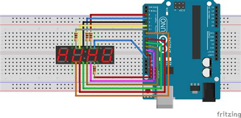 led resistor calculator 7 segment kyx 5461as 4 digit 7 segment led display with arduino ithepro your way to the it