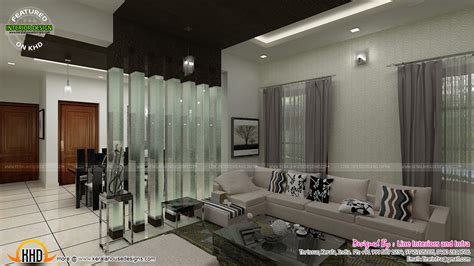 home interior plans contemporary dining living and courtyard interior design kerala home design and floor plans