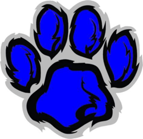 blue lion paw clip art  clkercom vector clip art
