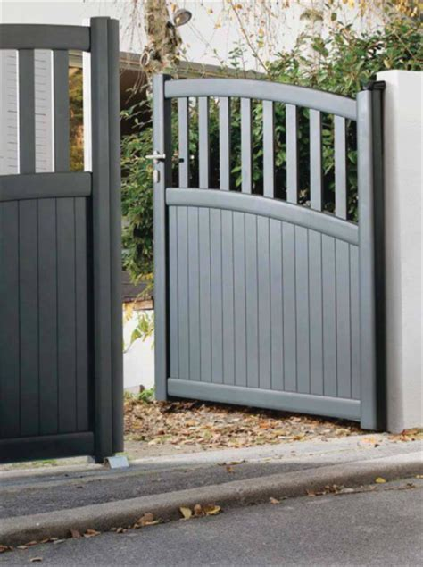Portail Alu Pas Cher 6755 by Great Portail Aluminium Battant Gris Anthracite Ral With
