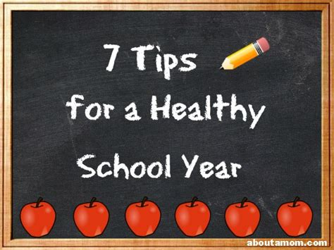 7 tips for a healthy school year about a