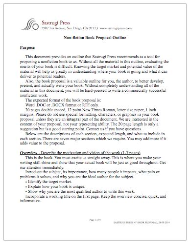 cover letter for fiction book proposal