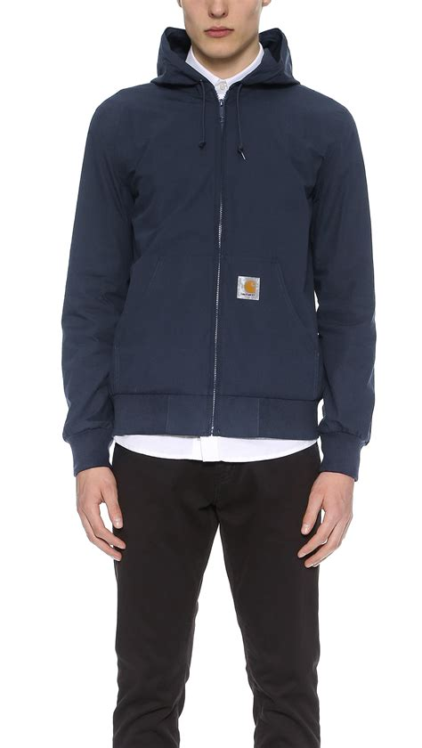carhartt wip active jacket in blue for lyst
