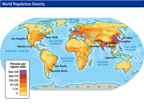 world population city density map world cultures maps