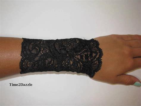 wrist lace tattoo wrist cuff black stretch lace bracelet arm band