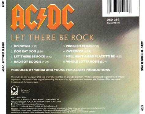 Acdc Let There Be Rock musicotherapia ac dc let there be rock 1977