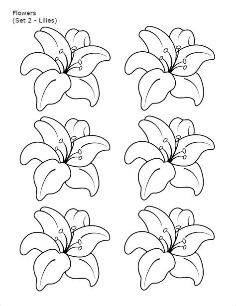 flower templates free printable pdf psd patterns