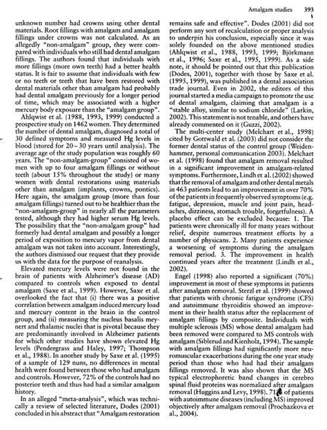 Klinghardt Mercury Detox Protocol by Amalgam Studies Disregarding Mercury Toxicity