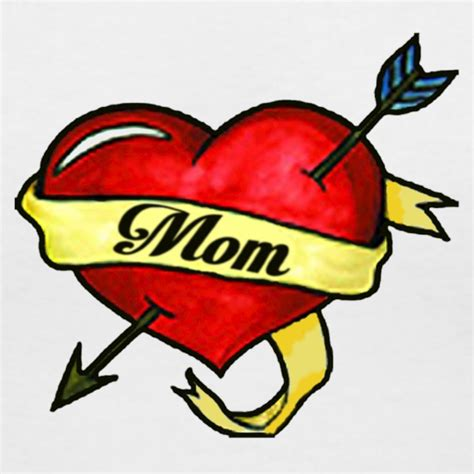 i love mom tattoo i design t shirt spreadshirt