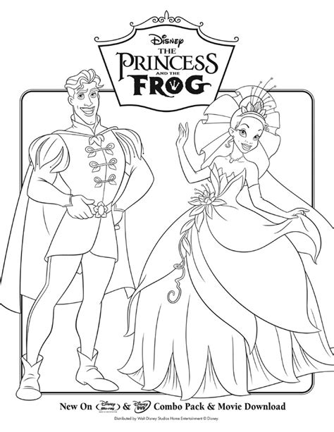 coloring page of princess and the frog the princess and the frog activity sheets