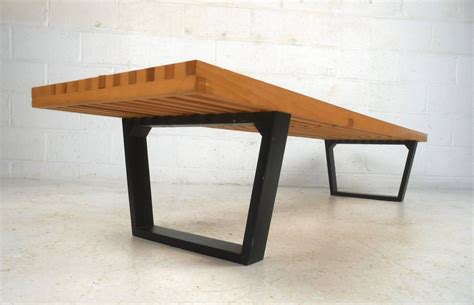 george nelson style bench george nelson style slat bench at 1stdibs
