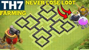 Clash of clans best th7 farming base town hall 7 anti everything