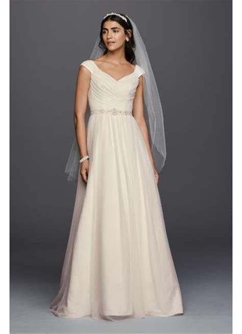 beaded sash for wedding dress tulle a line wedding dress with beaded sash david s bridal