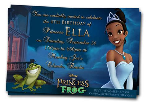 princess and the frog invitations printable princess and the frog birthday printables omg gift emporium