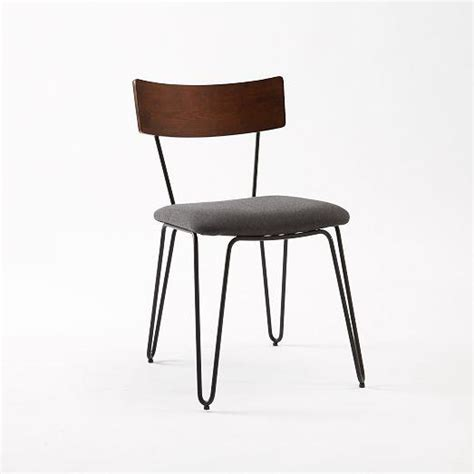 Hairpin Leg Chair by Hairpin Leg Grey And Brown Dining Chair